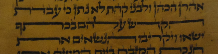 scribe stretched all the letters on this line of a Hebrew Torah